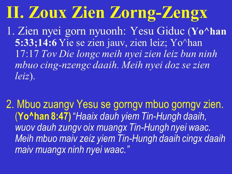II. Zoux Zien Zorng-Zengx