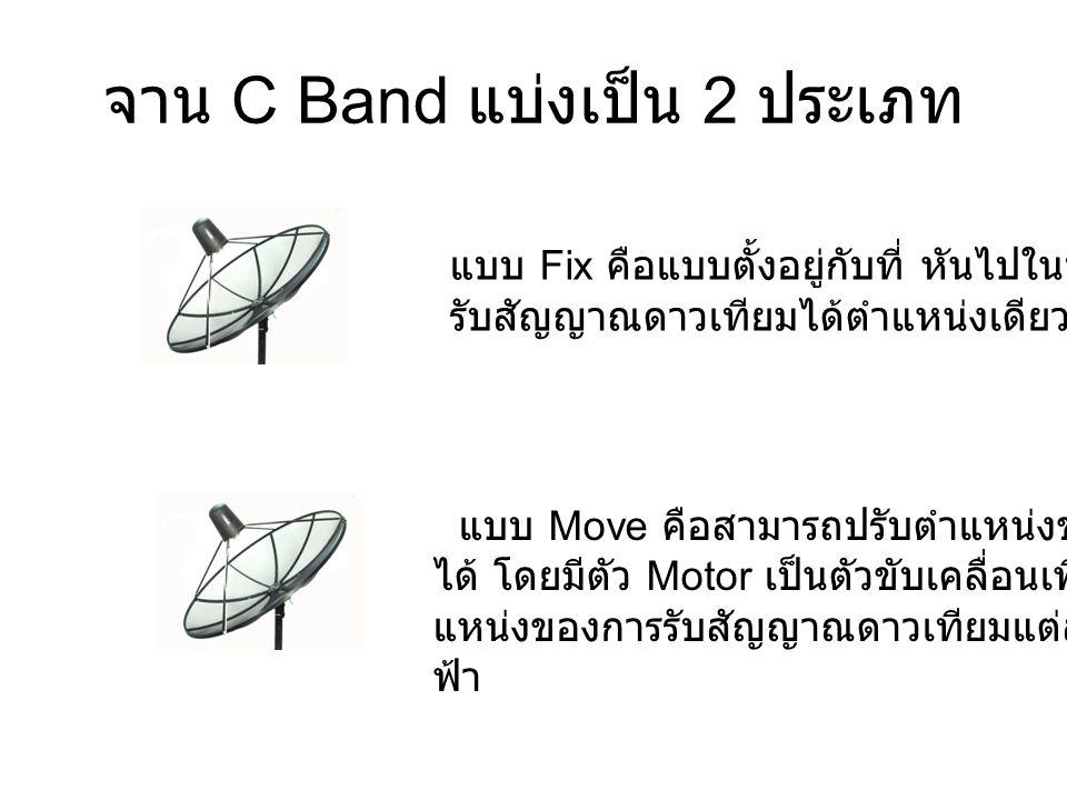 จาน C Band แบ่งเป็น 2 ประเภท