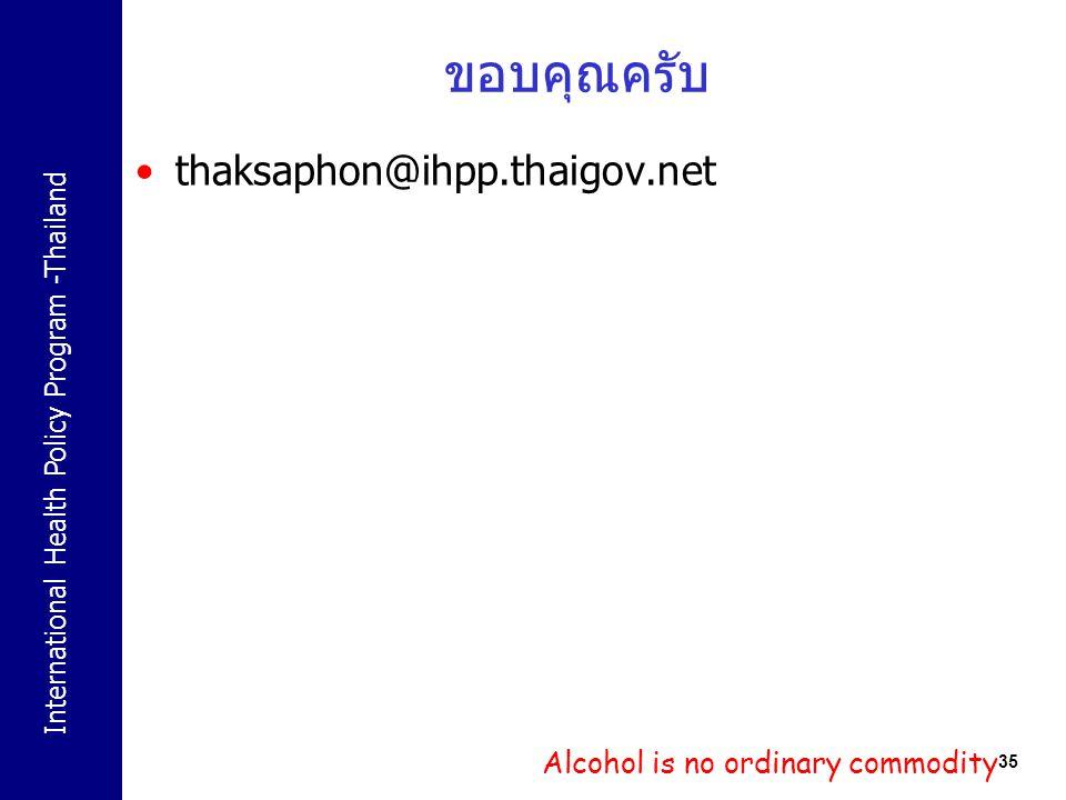 ขอบคุณครับ thaksaphon@ihpp.thaigov.net