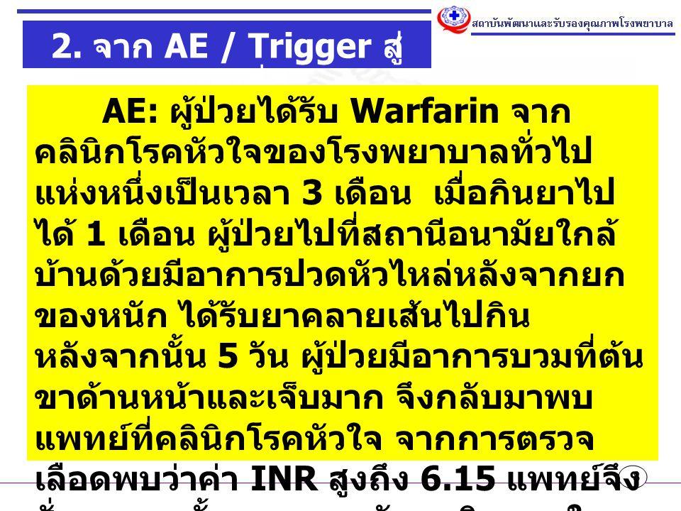 2. จาก AE / Trigger สู่ระบบที่ดี