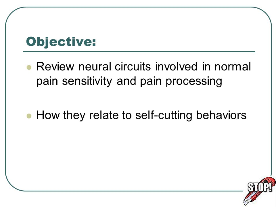 Objective: Review neural circuits involved in normal pain sensitivity and pain processing.