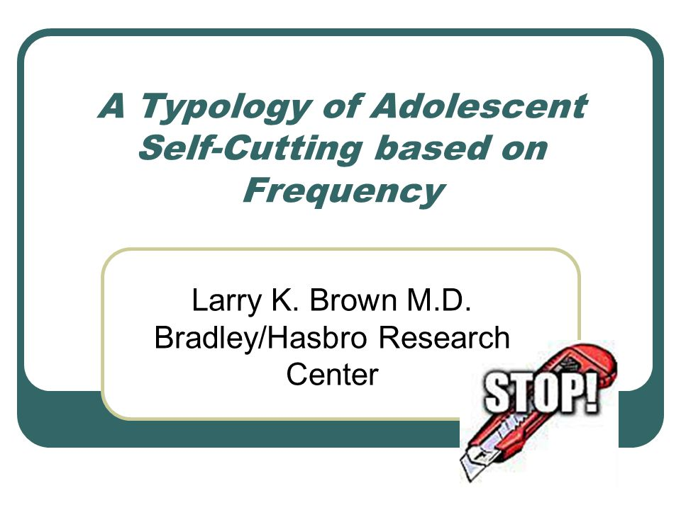 A Typology of Adolescent Self-Cutting based on Frequency