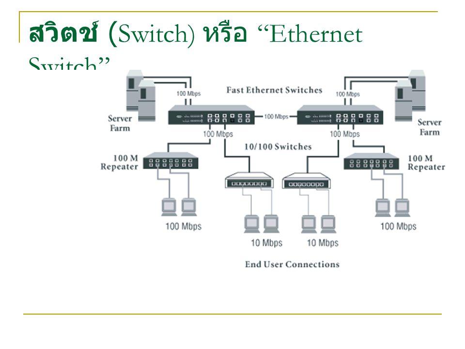 สวิตช์ (Switch) หรือ Ethernet Switch