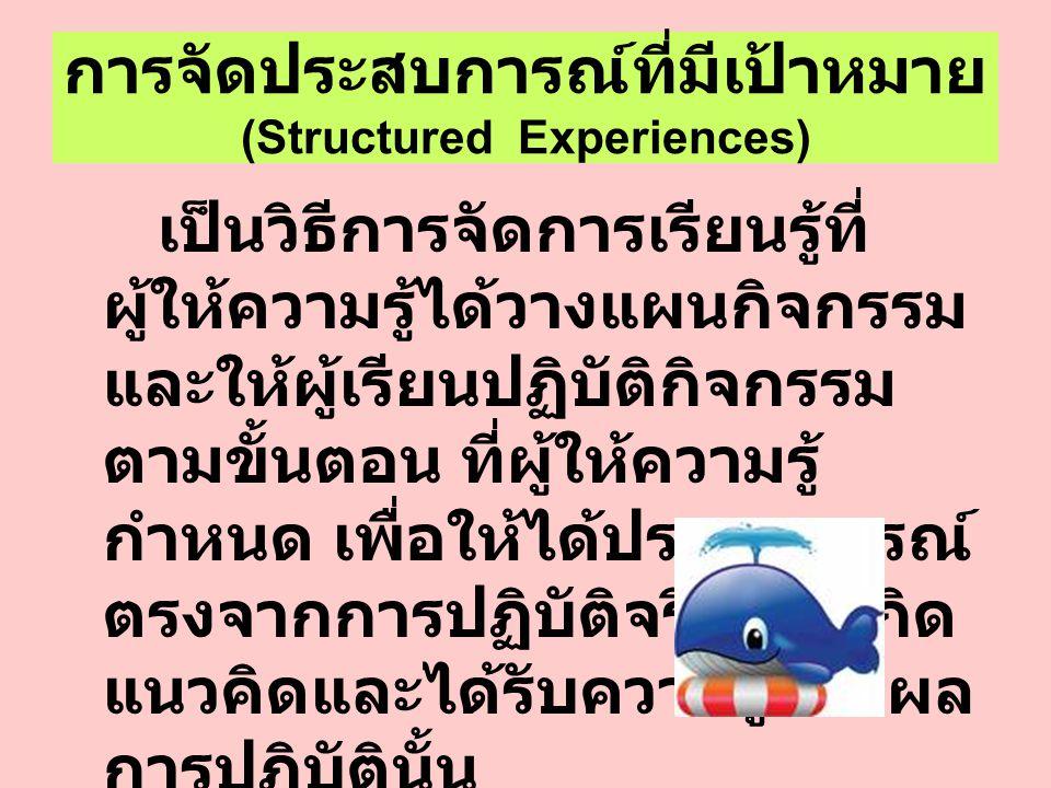 การจัดประสบการณ์ที่มีเป้าหมาย (Structured Experiences)