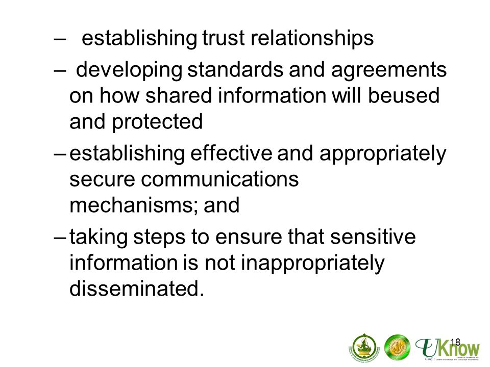 establishing trust relationships
