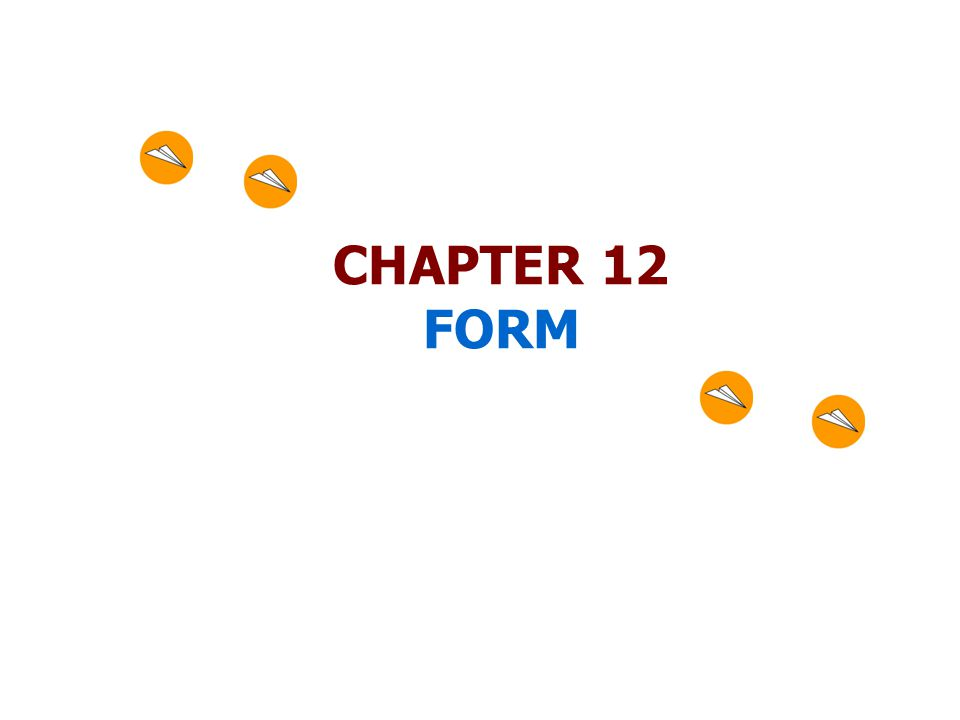 CHAPTER 12 FORM