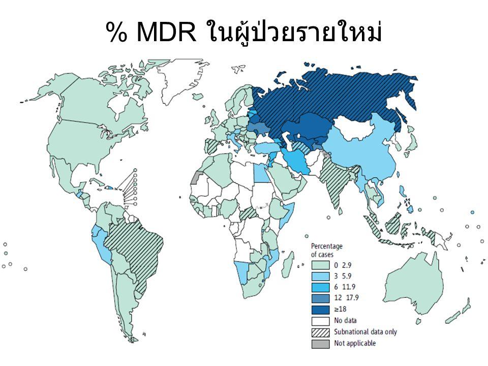 % MDR ในผู้ป่วยรายใหม่