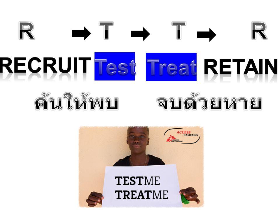 R T T R Recruit Test Treat Retain ค้นให้พบ จบด้วยหาย