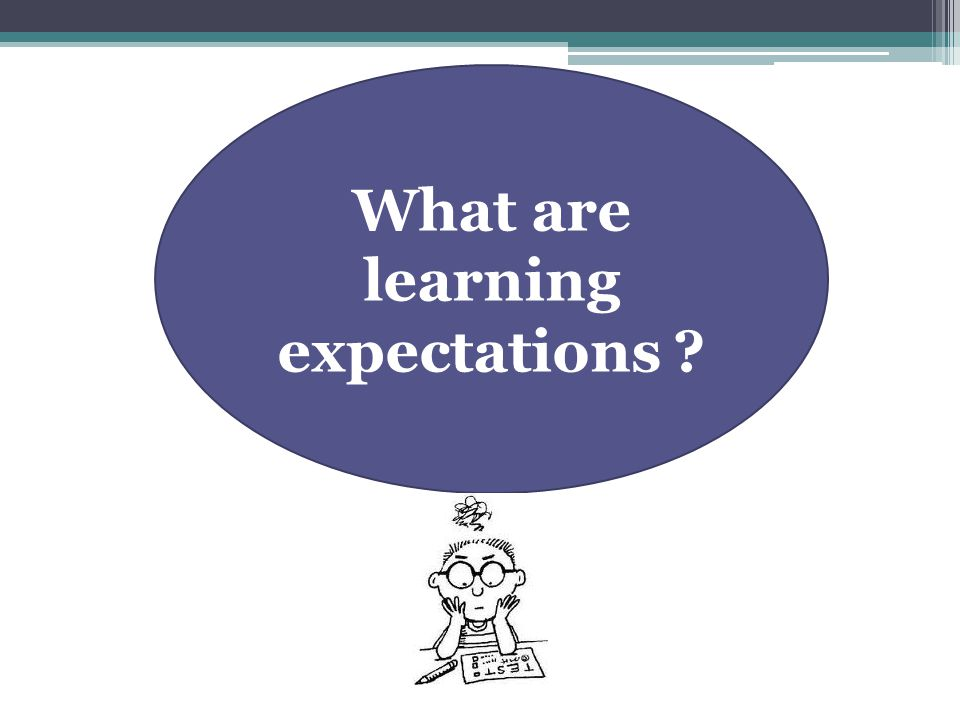 What are learning expectations