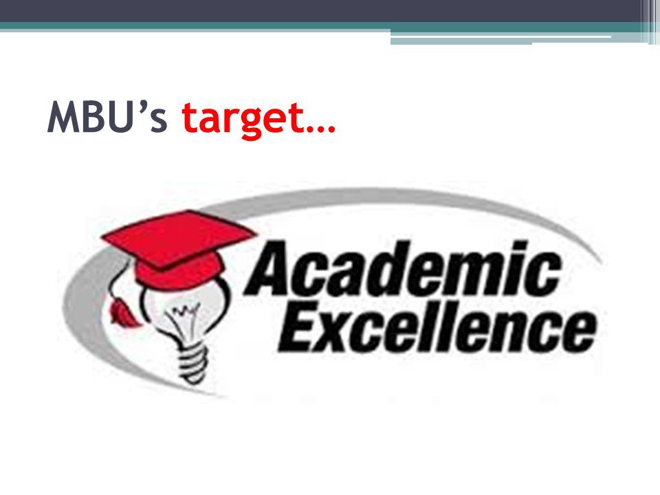 MBU's target…