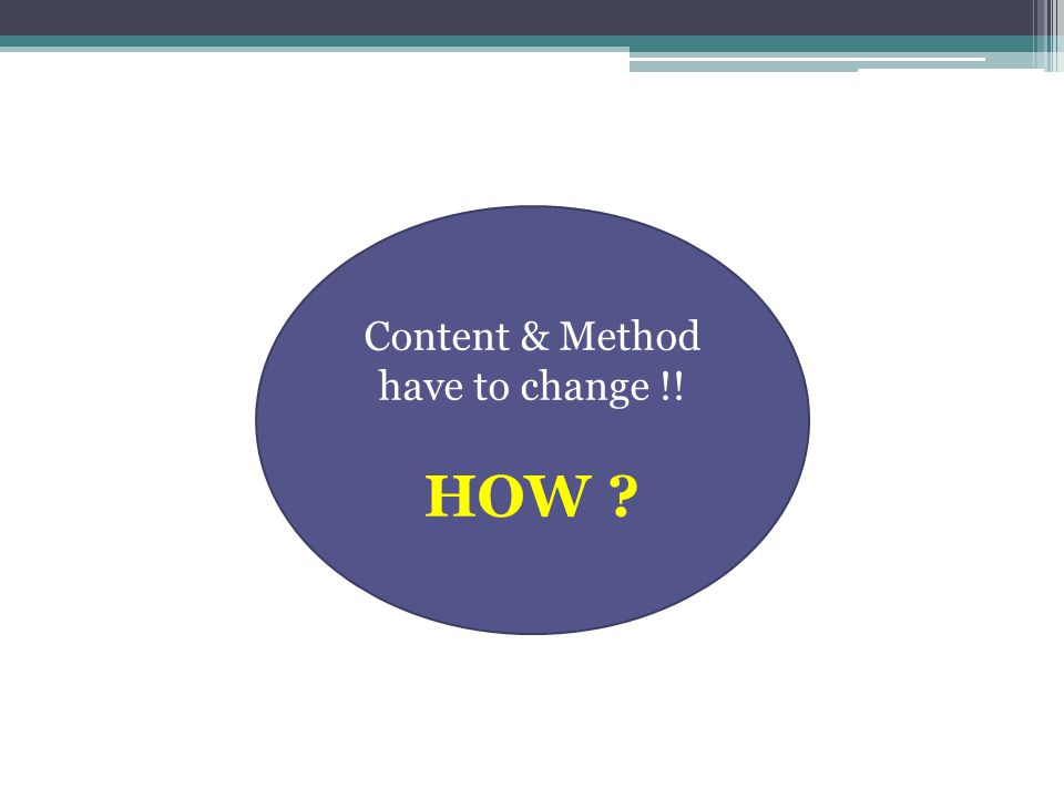 Content & Method have to change !!