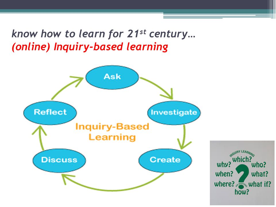 know how to learn for 21st century… (online) Inquiry-based learning