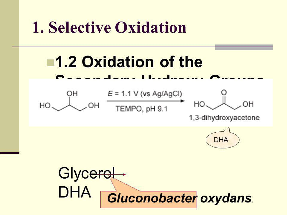 1. Selective Oxidation 1.2 Oxidation of the Secondary Hydroxy Groups
