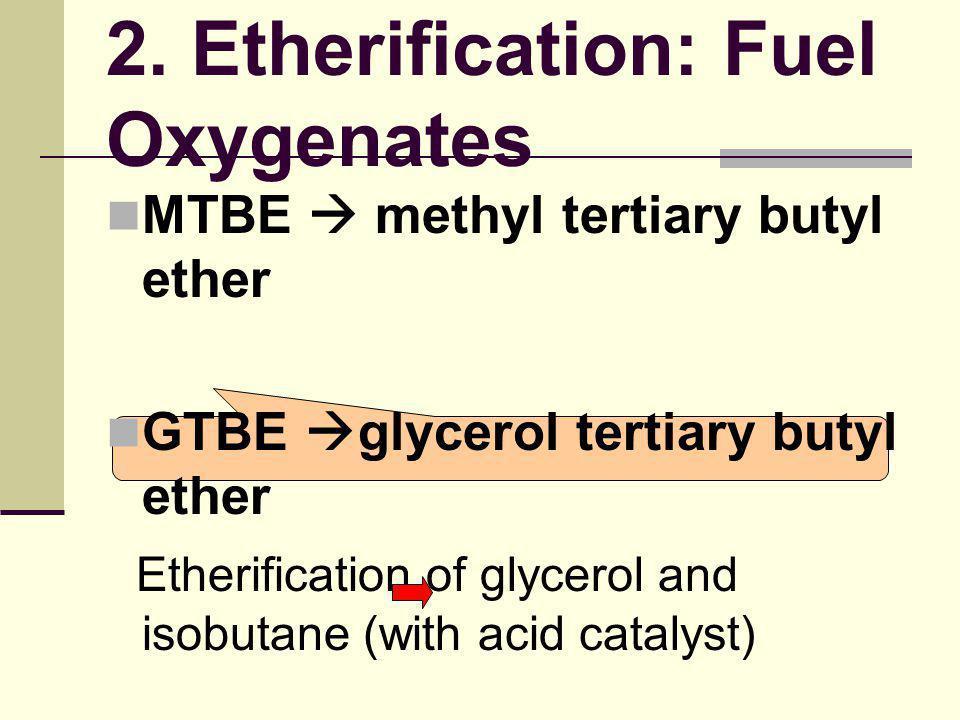 2. Etherification: Fuel Oxygenates