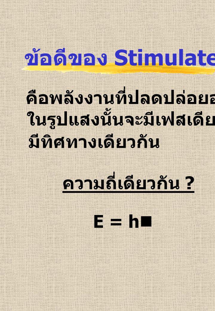ข้อดีของ Stimulated Emission