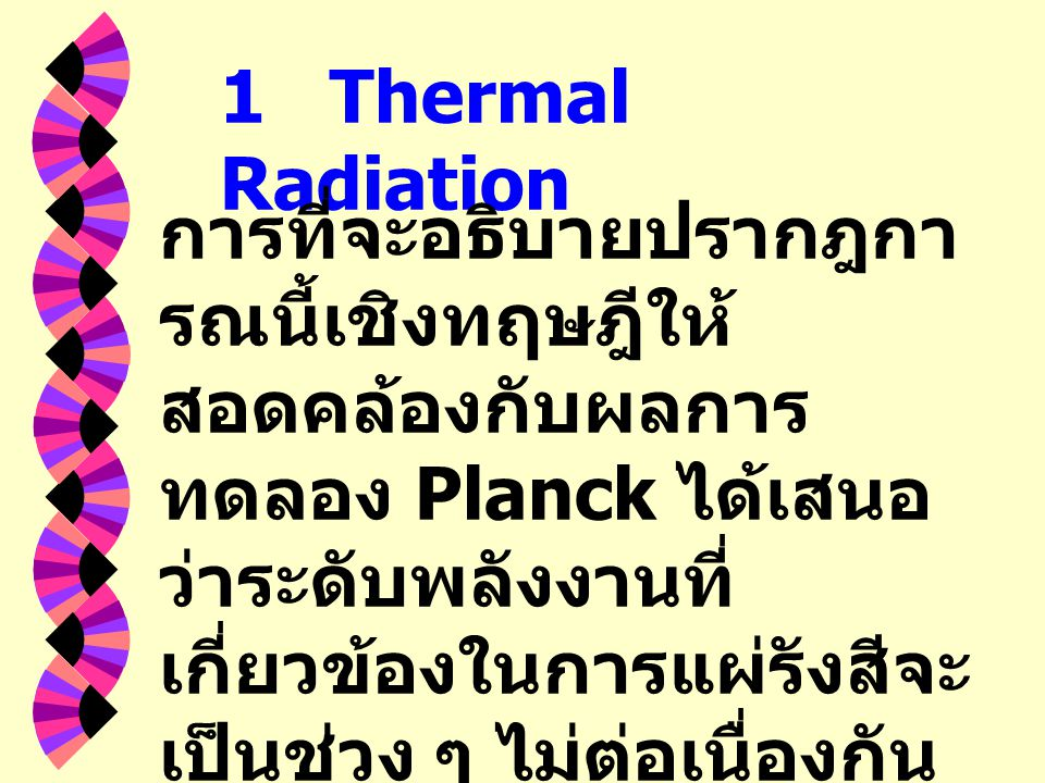 1 Thermal Radiation