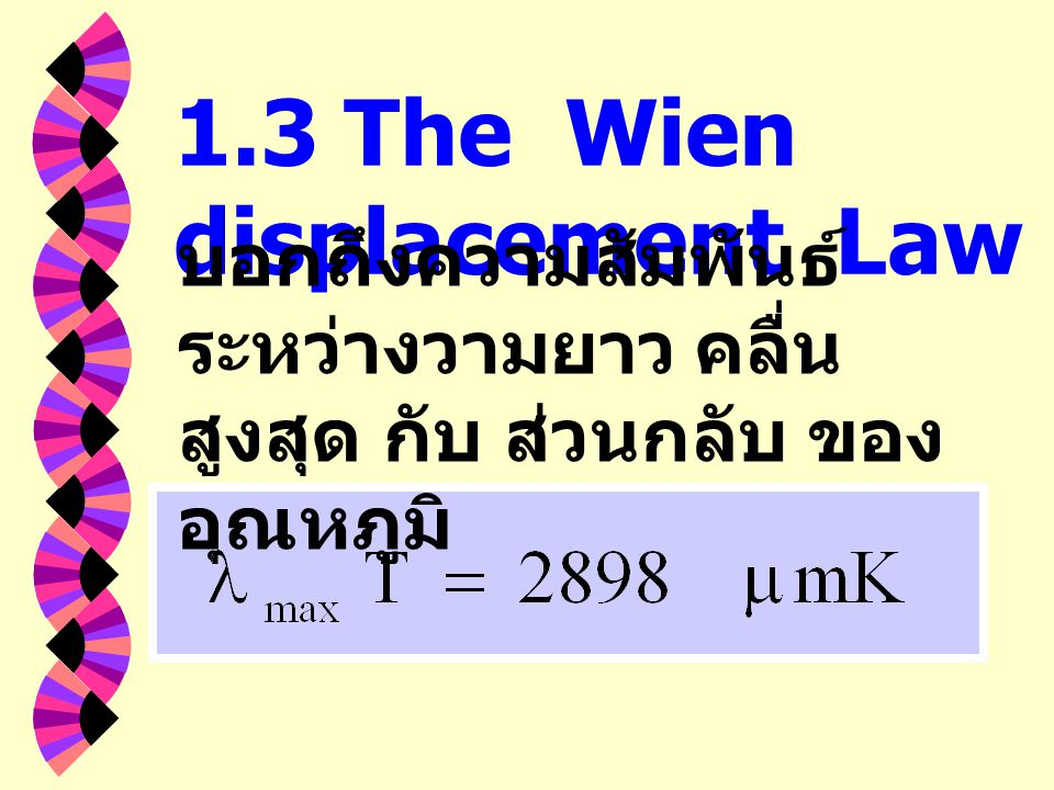 1.3 The Wien displacement Law