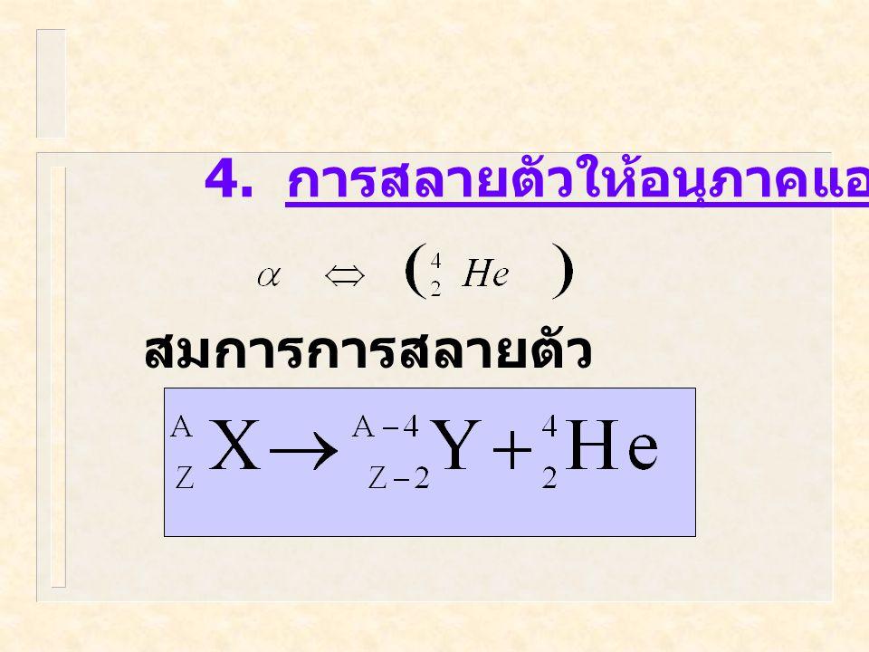 4. การสลายตัวให้อนุภาคแอลฟา