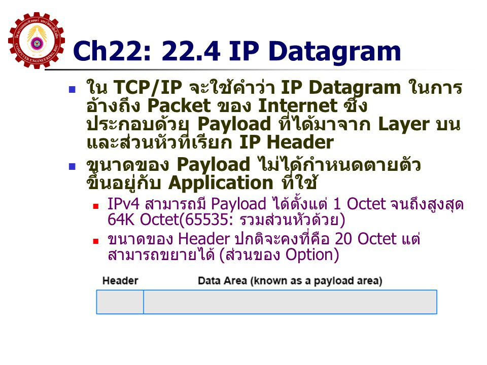 Ch22: 22.4 IP Datagram