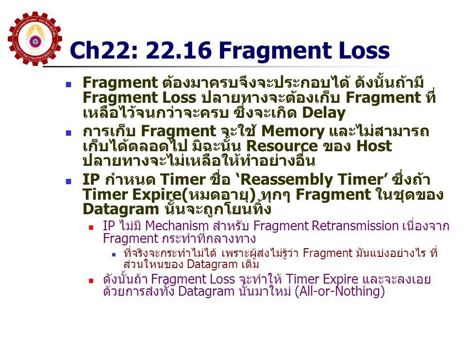 Ch22: 22.16 Fragment Loss