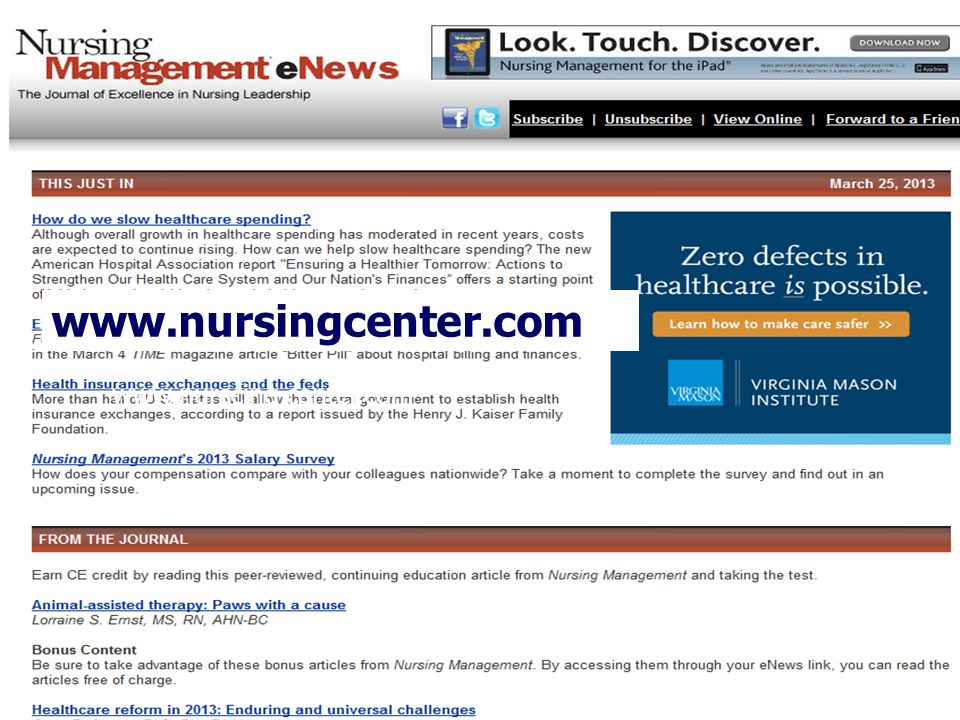www.nursingcenter.com www.nurscing center.com