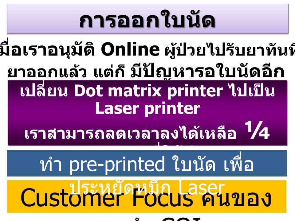 Customer Focus คนของเราทำ CQI
