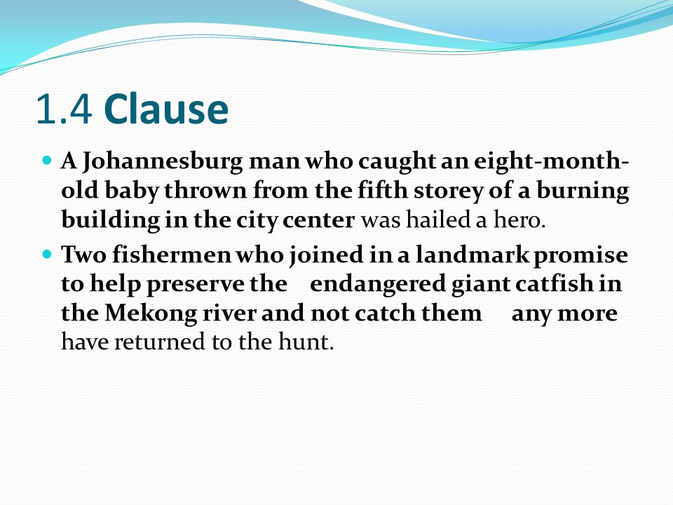 1.4 Clause