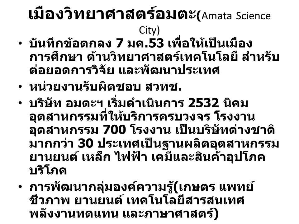 เมืองวิทยาศาสตร์อมตะ(Amata Science City)