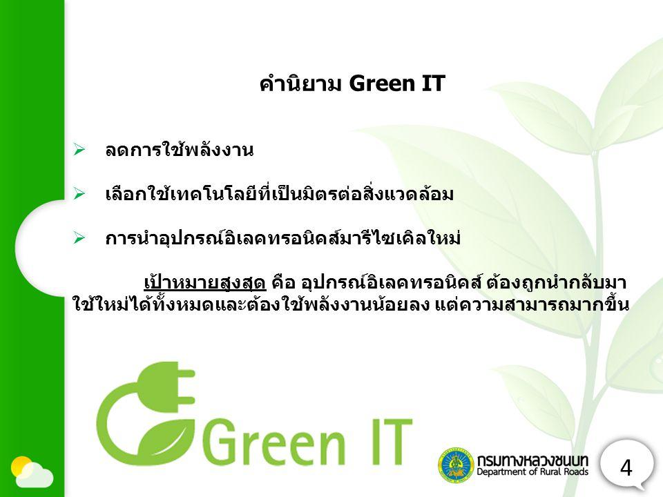 4 คำนิยาม Green IT ลดการใช้พลังงาน