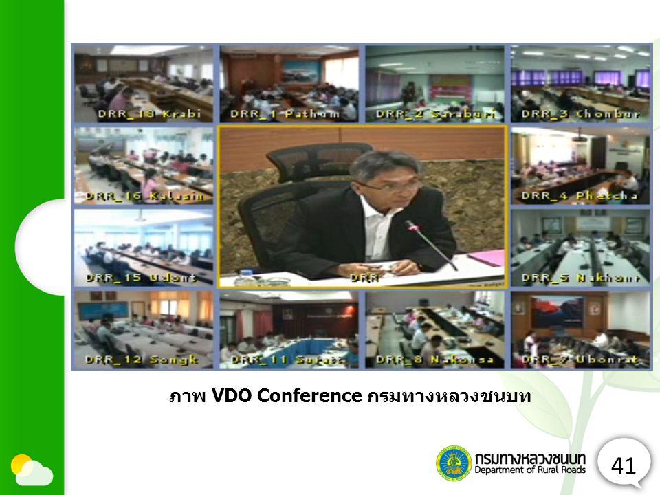 ภาพ VDO Conference กรมทางหลวงชนบท