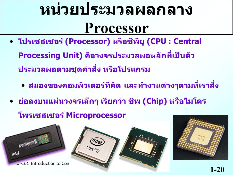 หน่วยประมวลผลกลาง Processor