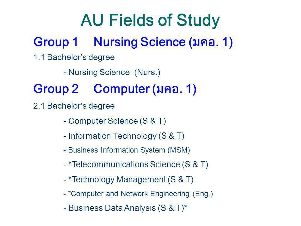 AU Fields of Study Group 1 Nursing Science (มคอ. 1)