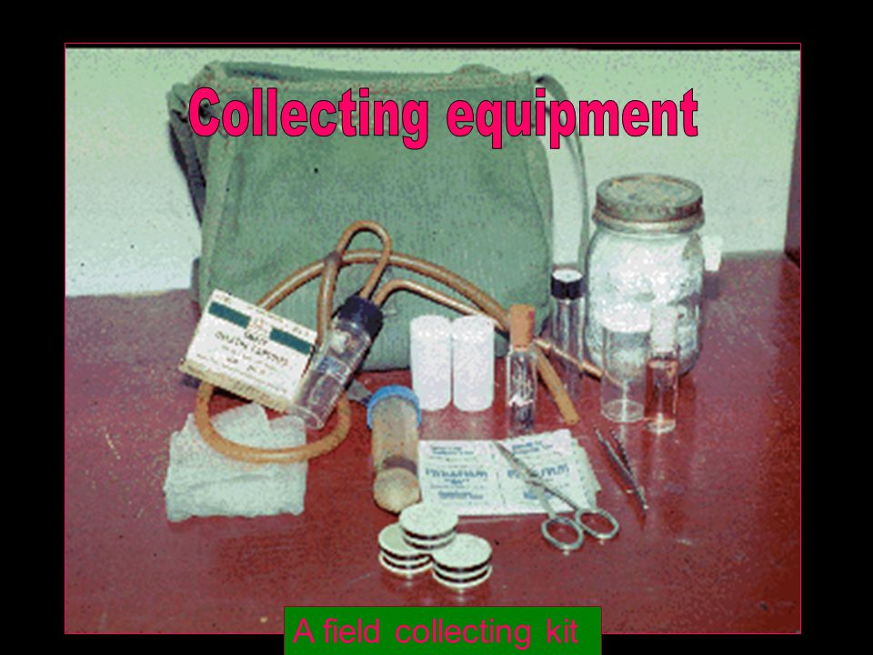 Collecting equipment A field collecting kit