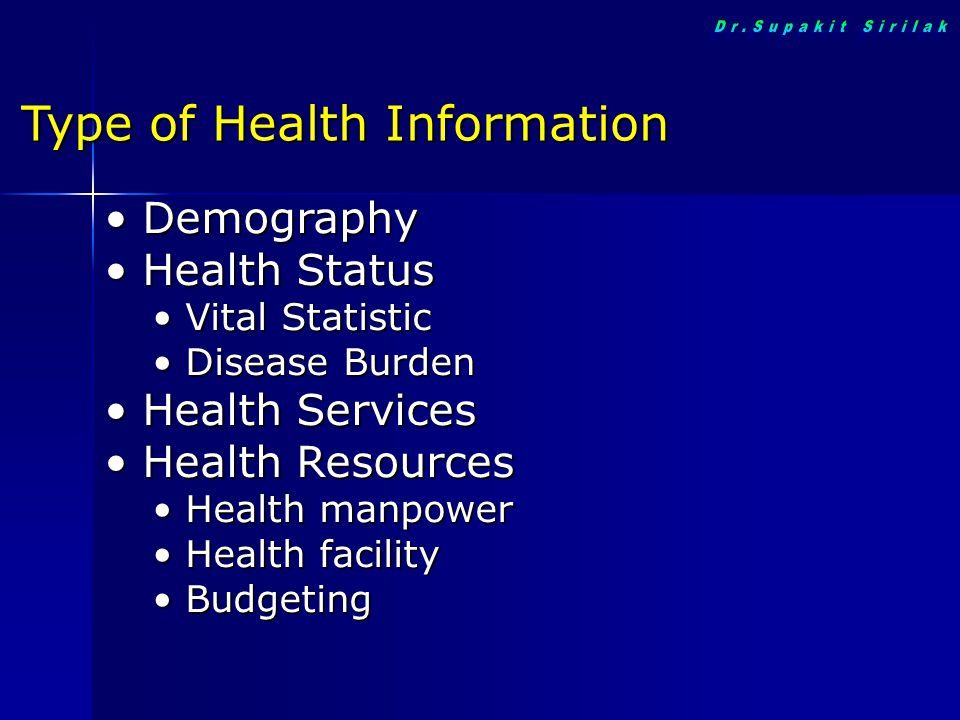 Type of Health Information