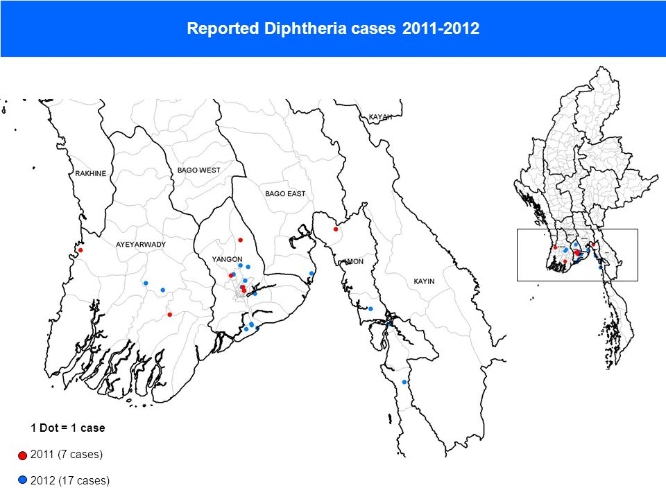 Reported Diphtheria cases 2011-2012