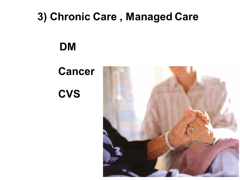 3) Chronic Care , Managed Care