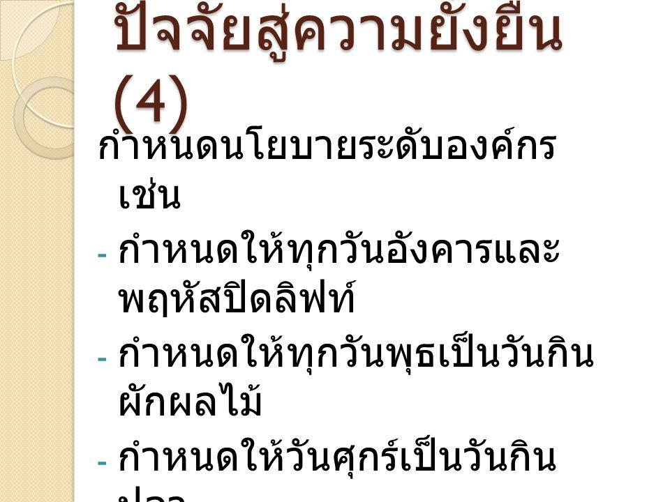 ปัจจัยสู่ความยั่งยืน (4)