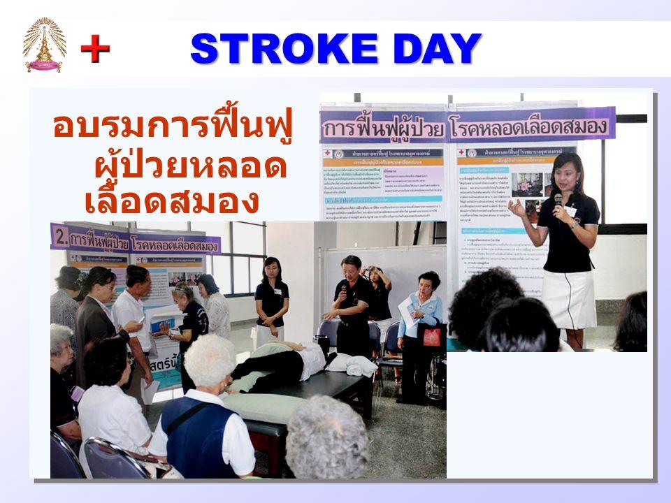 STROKE DAY อบรมการฟื้นฟู ผู้ป่วยหลอดเลือดสมอง