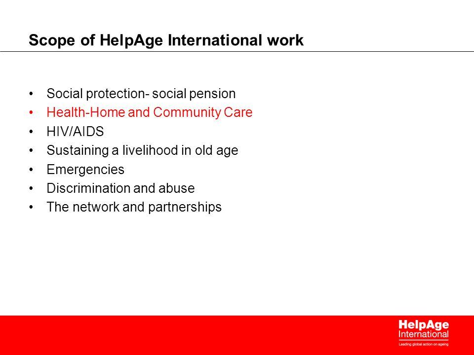 Scope of HelpAge International work
