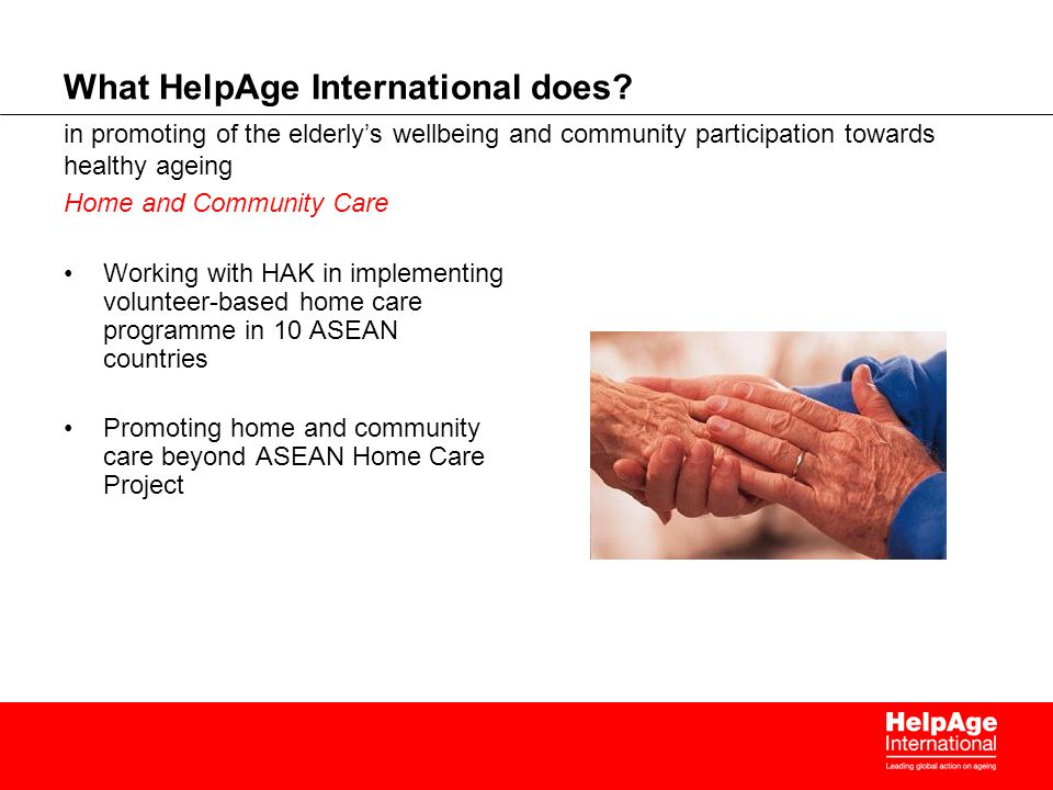 What HelpAge International does