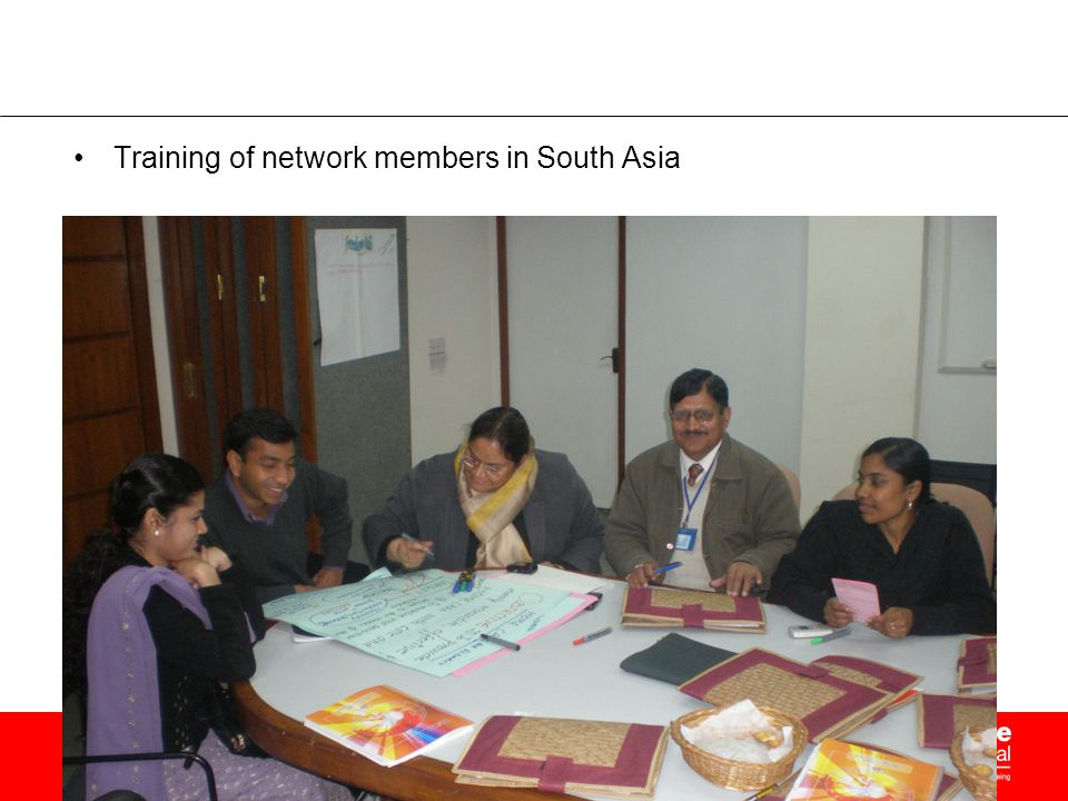 Training of network members in South Asia