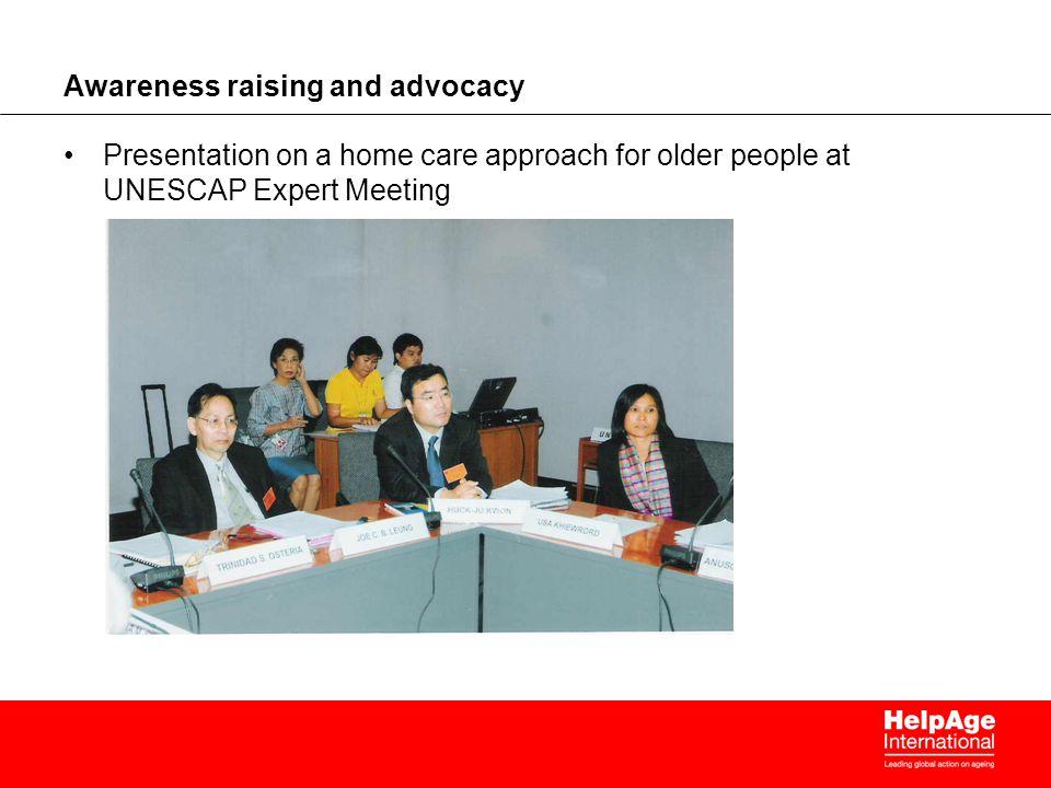 Awareness raising and advocacy