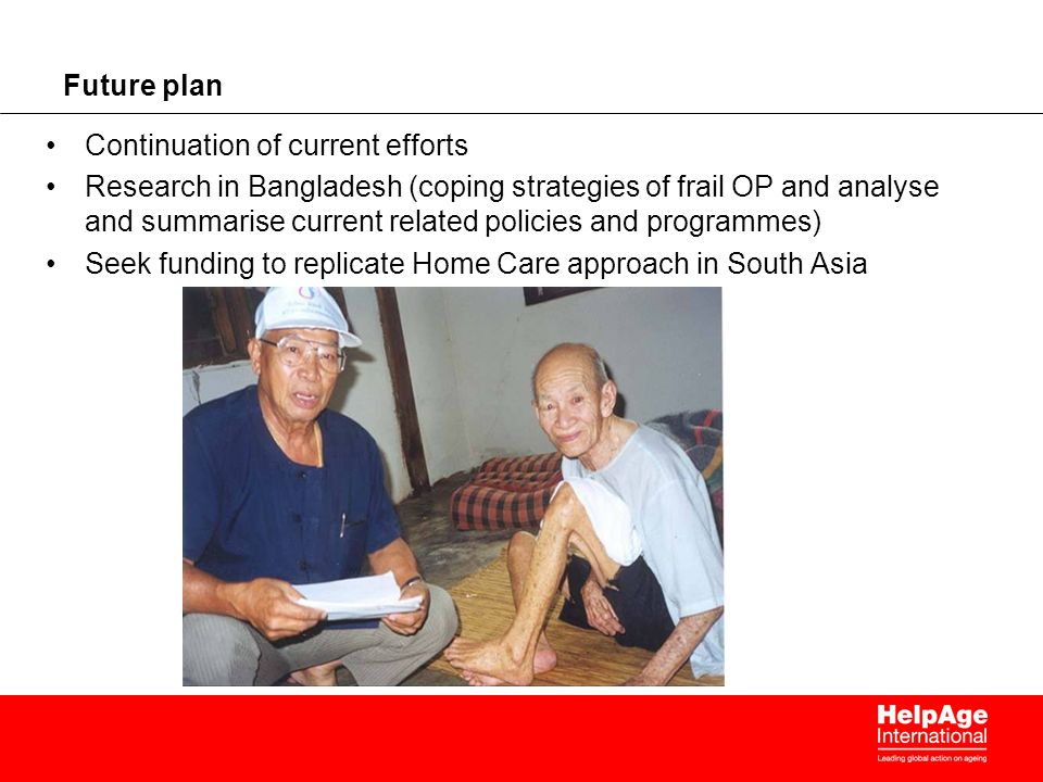 Future plan Continuation of current efforts.