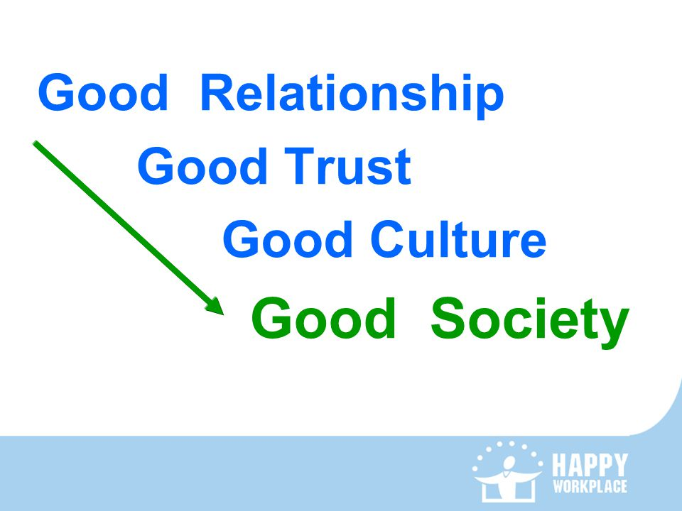 Good Relationship Good Trust Good Culture Good Society