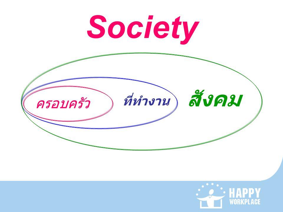 Society สังคม ครอบครัว ที่ทำงาน