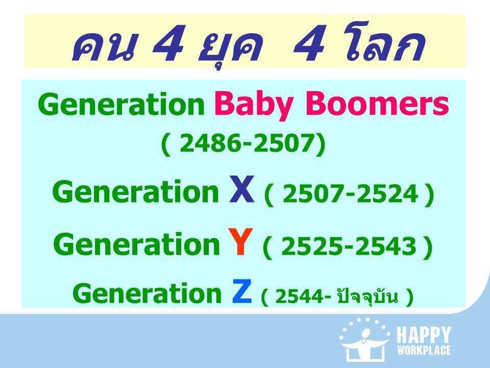 Generation Baby Boomers Generation Z ( 2544- ปัจจุบัน )