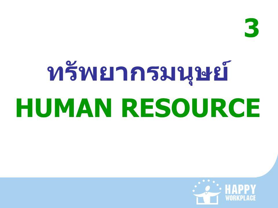 3 ทรัพยากรมนุษย์ HUMAN RESOURCE
