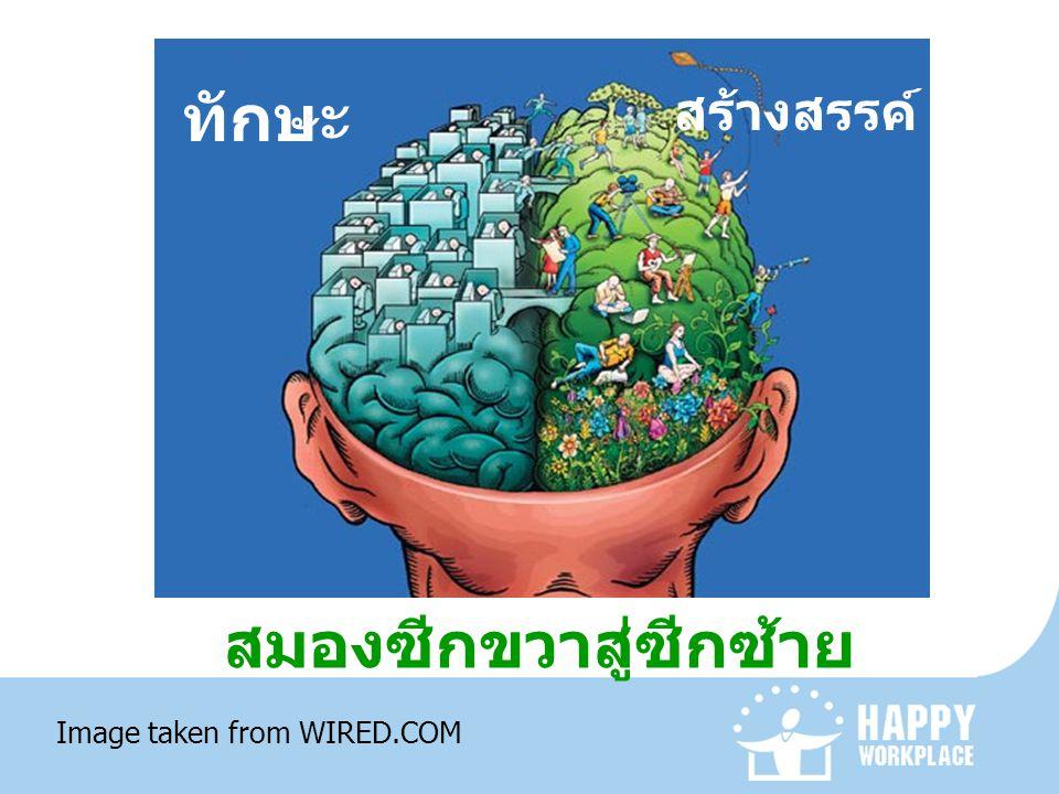 สมองซีกขวาสู่ซีกซ้าย