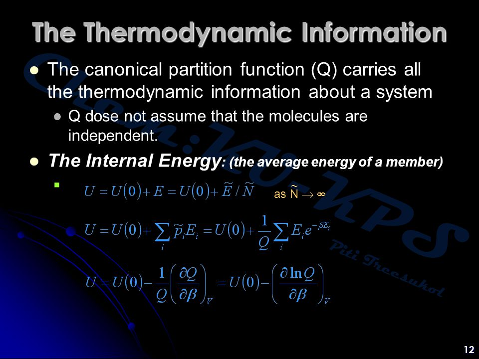 The Thermodynamic Information