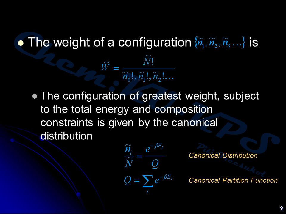 The weight of a configuration is